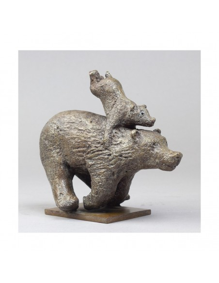 Sculpture de Sophie Verger Quickly en bronze profil droit trois quarts