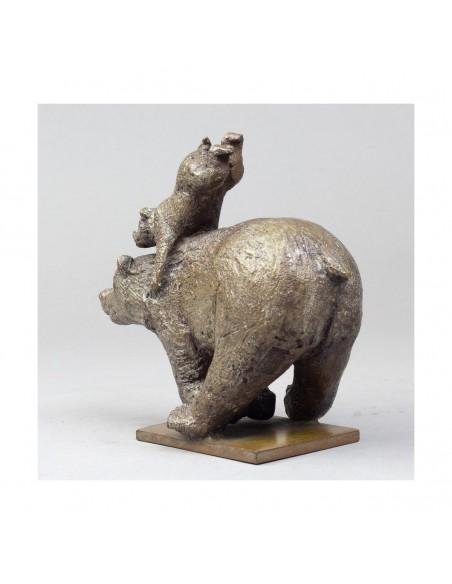Sculpture de Sophie Verger Quickly en bronze dos