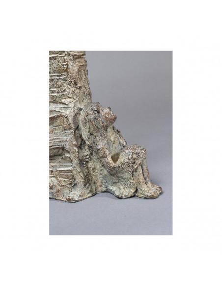 Sculpture de Sophie Verger Jeune philosophe en bronze Détail fille