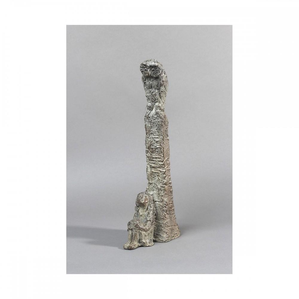 Sculpture de Sophie Verger Jeune philosophe en bronze en entier