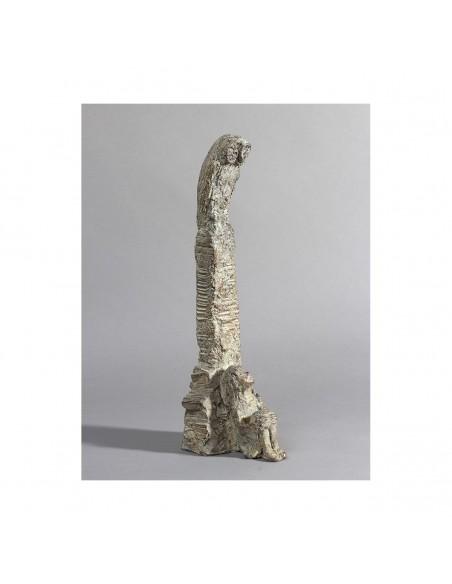 Sculpture de Sophie Verger Jeune philosophe en bronze Trois quarts