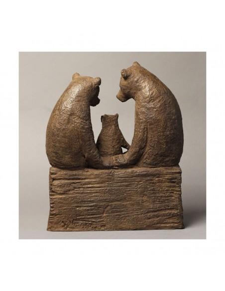 Sculpture de Sophie Verger Premier enfant en bronze de dos
