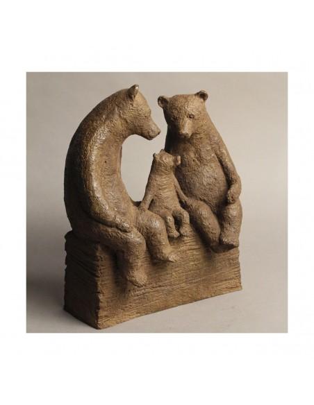 Sculpture de Sophie Verger Premier enfant en bronze, profil trois quarts