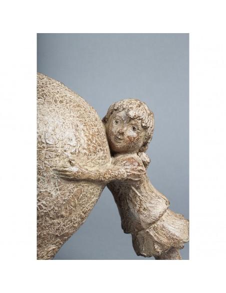 Sculpture de Sophie Verger Tiens bon! en bronze, détail