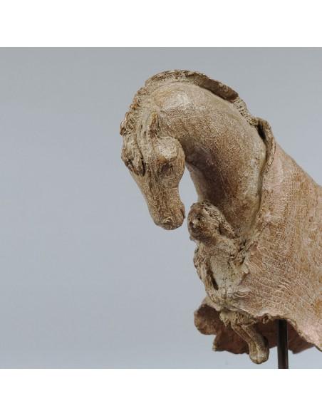 Sculpture de Sophie Verger Voyage en bronze, détail tête