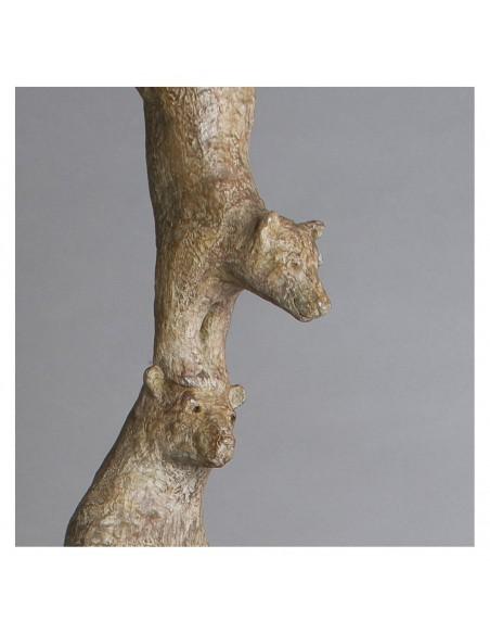 Sculpture de Sophie Verger Les quatre pizzlys en bronze, détail enfants