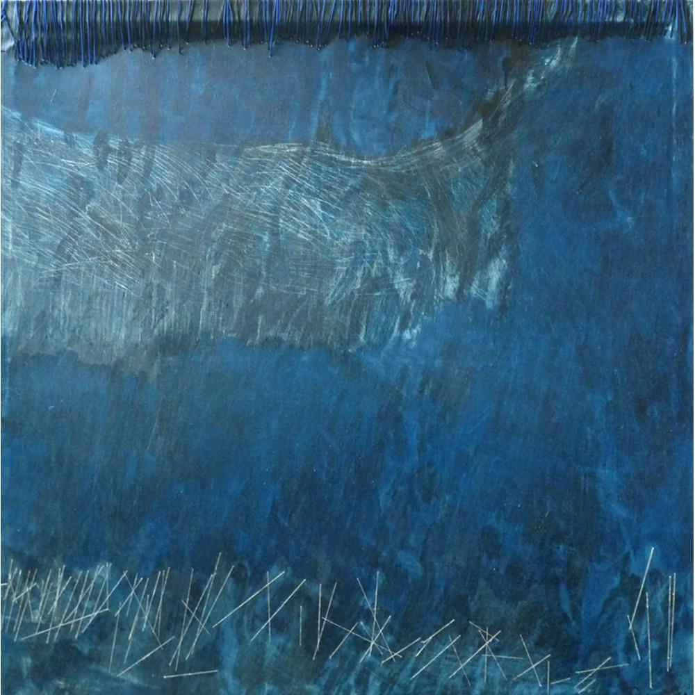 Peinture de Fabienne Decornet Danse 1, Techniques mixtes sur toile de lin
