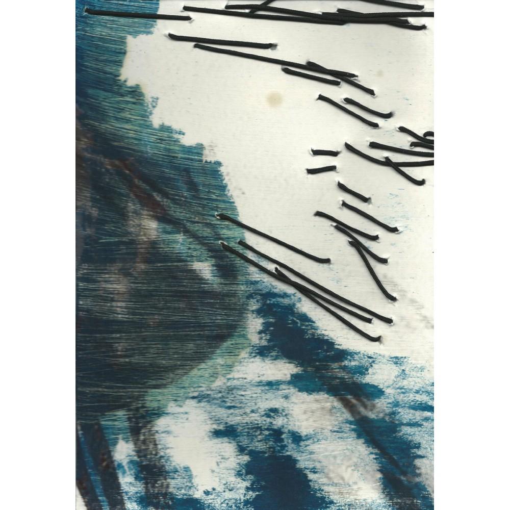 Peinture de Fabienne Decornet Au fil de l'eau 9, Technique mixte et fil sur papier