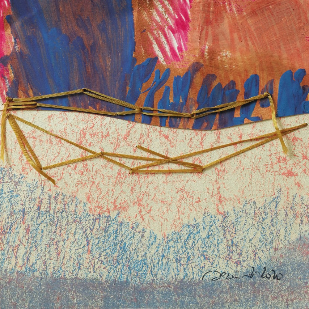 Peinture de Fabienne Decornet OD'AS II, Technique mixte et fil sur papier