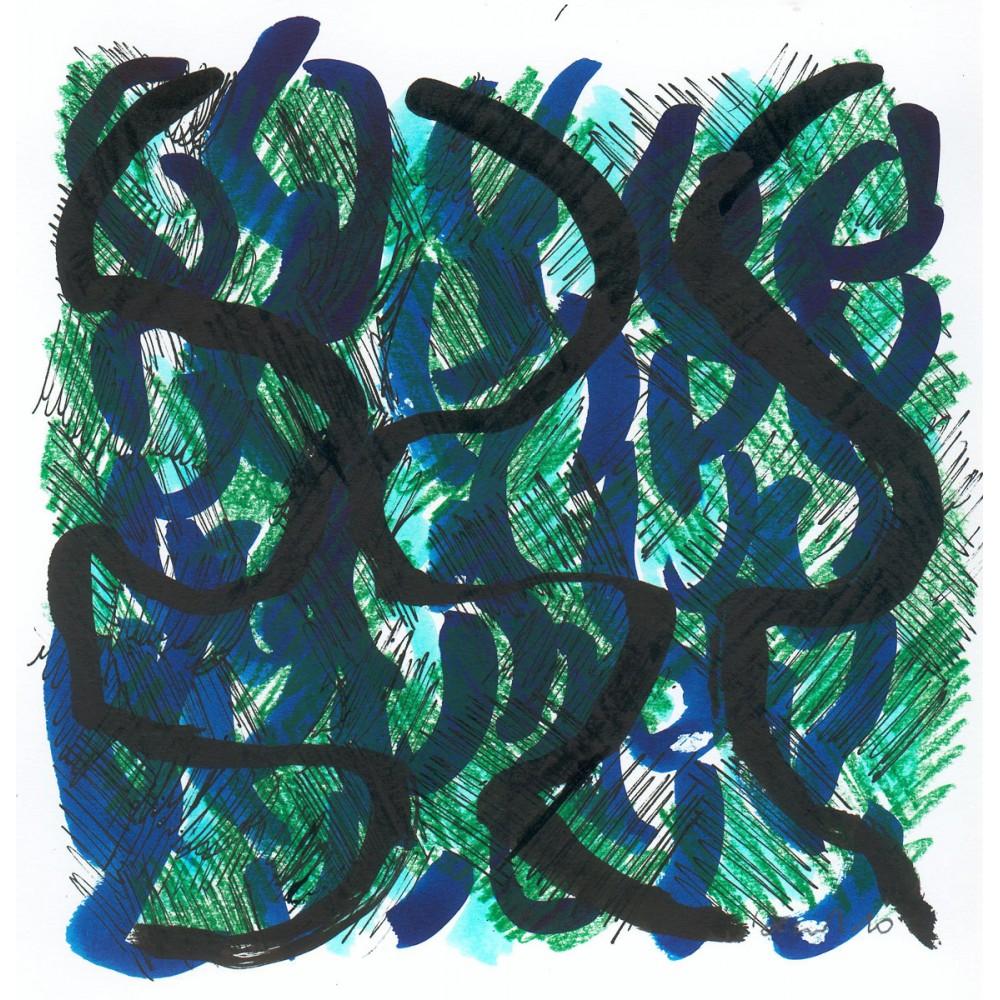 Peinture de Fabienne Decornet Danse papier, Technique mixte sur papier