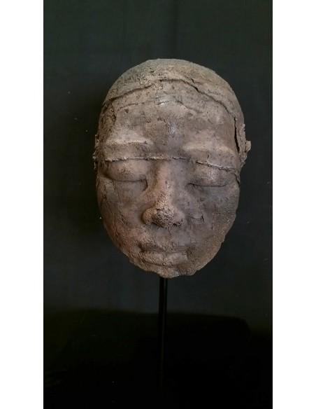Sculpture de Evelyne Galinski Ânh X en bronze de face